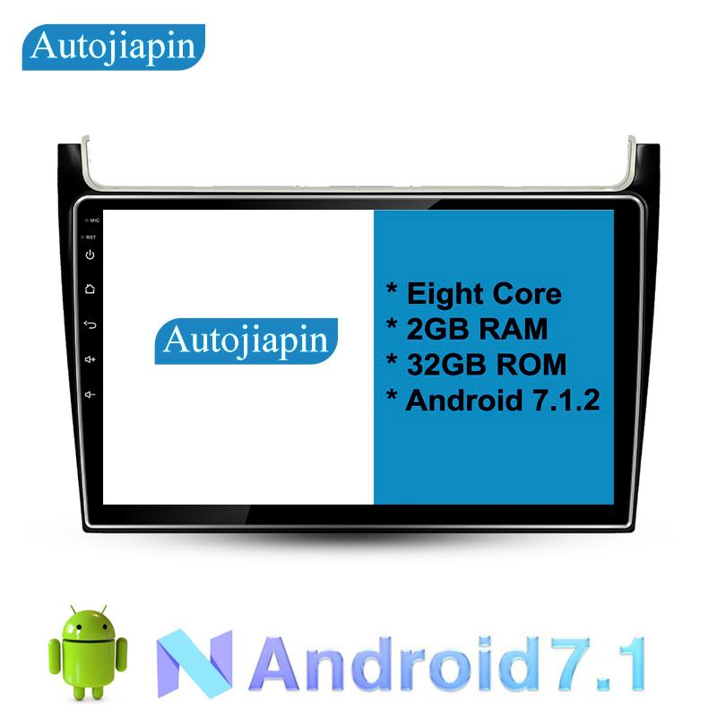 """10.1"""" Eight Core Android 7.1 2G RAM 1024*600 CAR Navigation For VOLKSWAGEN POLO 2016  With Stereo Radio Audio"""