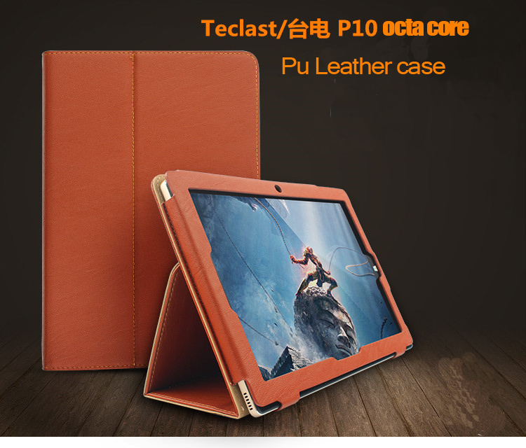 Fashion 2 fold Folio PU leather stand cover case for teclast P10  10.1inch tablet pc fashion 3 fold folio pu leather stand