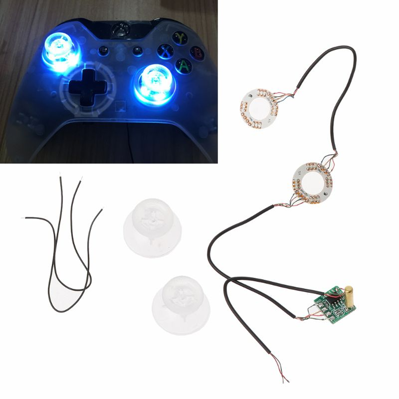LED Light Thumb Sticks Joysticks Analog Thumb Mod With Clear Thumbsticks Cap DIY For Xbox One Controller