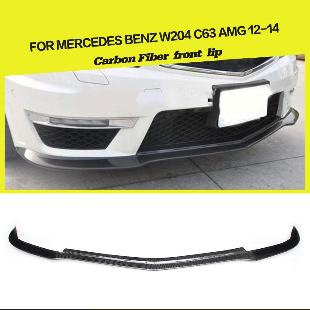 Carbon Fiber / FRP Front Bumper Lip Spoiler Splitters for Mercedes-Benz C-Class W204 C63 AMG Sedan Coupe 2012 - 2014 image