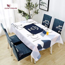 SlowDream Decoratiove Table Cloth Anti-Dirty Waterproof Oilproof Dining Cover Tea Nordic Style Rectangle