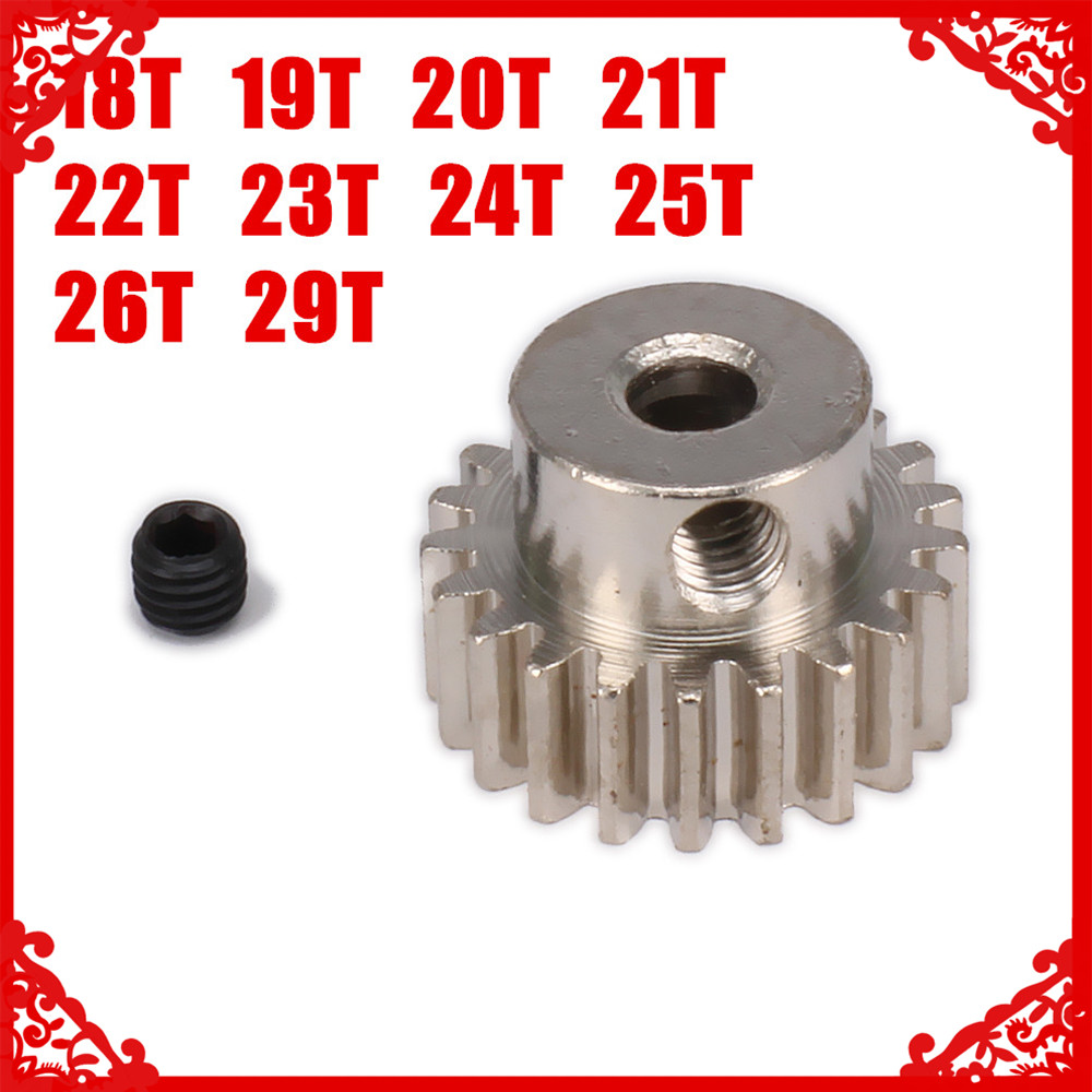 Tooth Teeth Pinion Gears HSP 1:10 18T 19T 20T 21T 22T 23T 24T 25T 26T 29T For RC Car 0.6 Aperture 3.2mm Parts HPI Hi Speed Axial