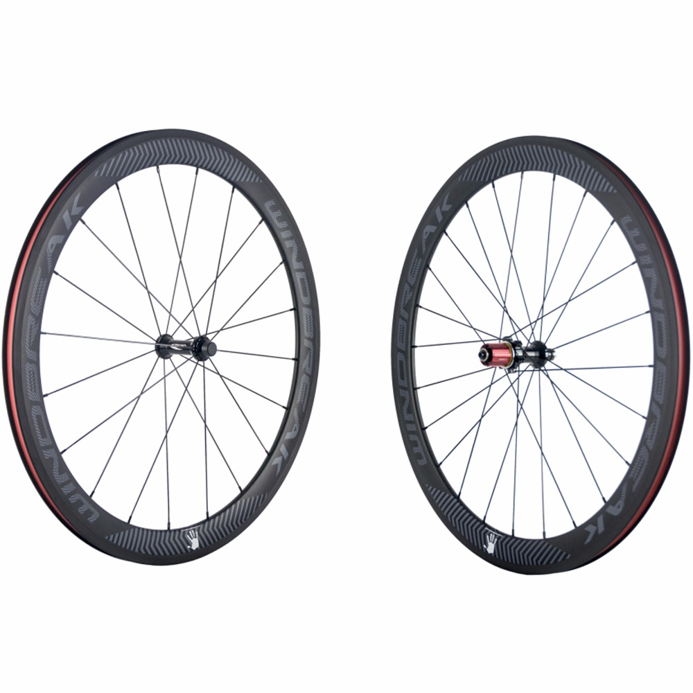 WINDBREAK Clincher/Tubular Carbon Wheelset Road Bike 50mm Clincher Carbon Wheels 23mm Chosen Hub Carbon Bicycle Wheel sobato bikes wheel carbon road wheels bicycle chinese oem wheelset 38mm clincher or tubular powerway r13 hub