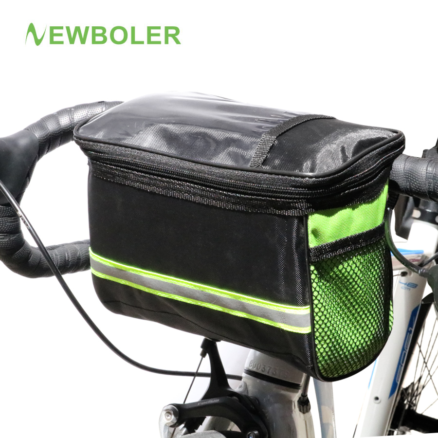 NEWBOLER Bicycle Front Bag MTB Bike Basket Pannier Reflective Frame Tube Handlebar Touch Screen Cycling Front Bag bicycle touch screen tube bag bike cycling touch screen mobile phone bag pannier bag