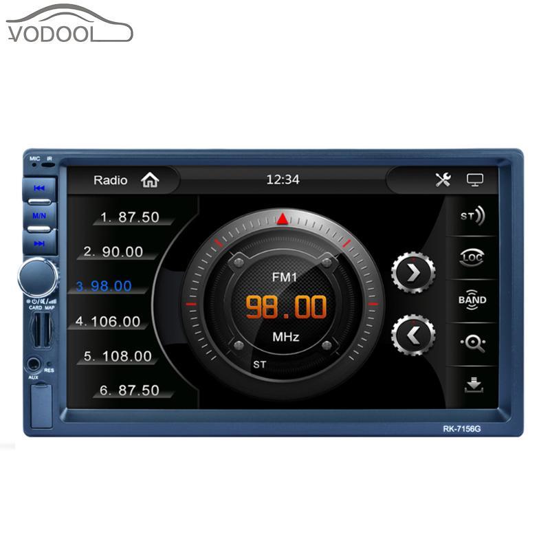 7  High Definition Digital Touch Screen Car GPS Navigator 2 Din Bluetooth Auto Stereo MP5 Player FM Radio Autoradio with Camera