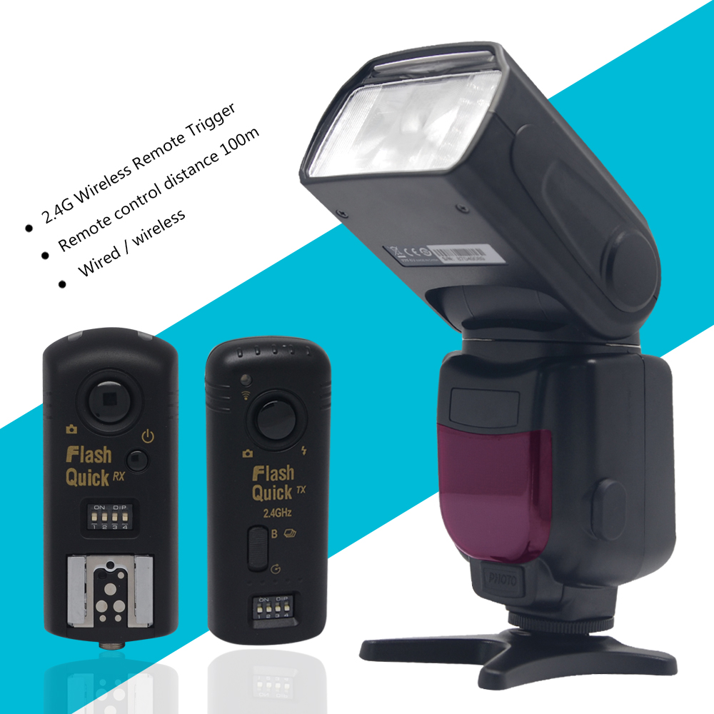 Triopo TR 950 フラッシュスピードライト一眼レフカメラ用 D7100 D3100 D5300 D5200 D5100 D3200 D700 + 2.4 グラムワイヤレスリモートトリガー  グループ上の 家電製品 からの 点滅 の中 1