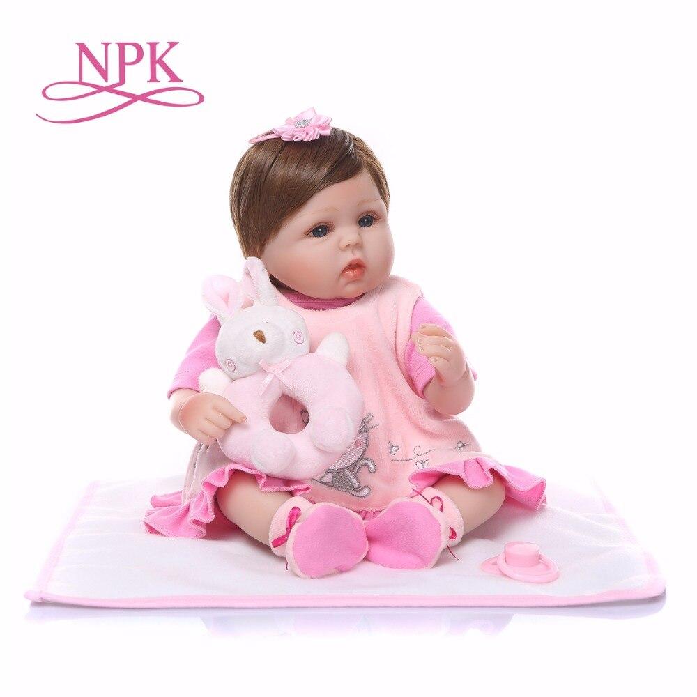 Toys & Hobbies Apprehensive Bebes Reborn Npk Dolls Reborn Babies 1840cm Silicone Reborn Baby Doll Pink Girl Newborn Dolls With Rabbit Plush Gifts Agreeable Sweetness Dolls