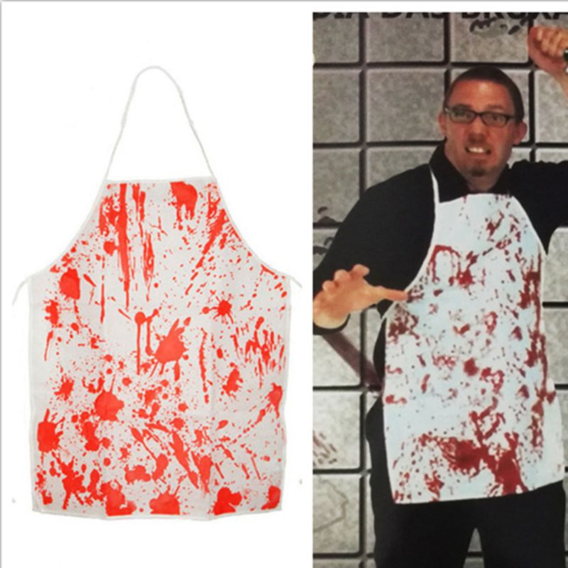 Non-woven Bloody Apron Halloween Plays Chef Cook Creative Horror Character Cosplay Game Props image