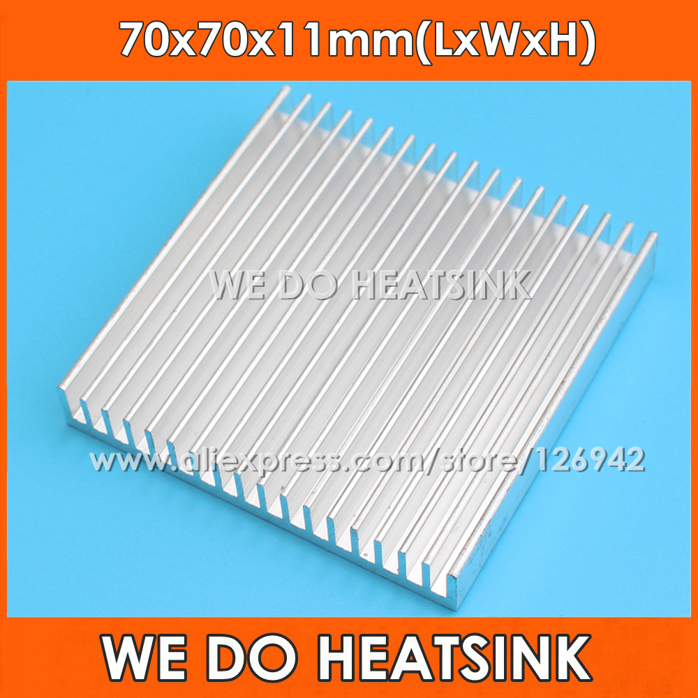 WE DO HEATSINK 70*70*11mm Radiator Aluminum Heatsink Extruded Heat Sink for LED Electronic Integrated Circuit Cooler Cooling 1u server computer copper radiator cooler cooling heatsink for intel lga 2011 active cooling