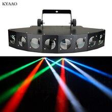 Disco podium lichtbundel 8*10 W LED RGBW DMX 512 party lights club sound light professionele dj apparatuur scanner bar lichten