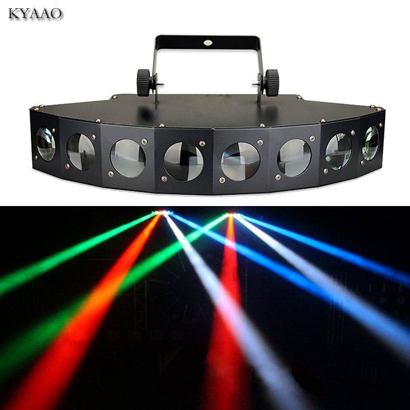 Disco stage beam light 8*10W LED RGBW DMX 512 party lights club sound light professional dj equipment scanner bar lights