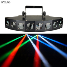 Disco stage chùm ánh sáng 8*10 W LED RGBW DMX 512 đèn bên câu lạc bộ âm thanh ánh sáng chuyên nghiệp thiết bị dj scanner bar đèn