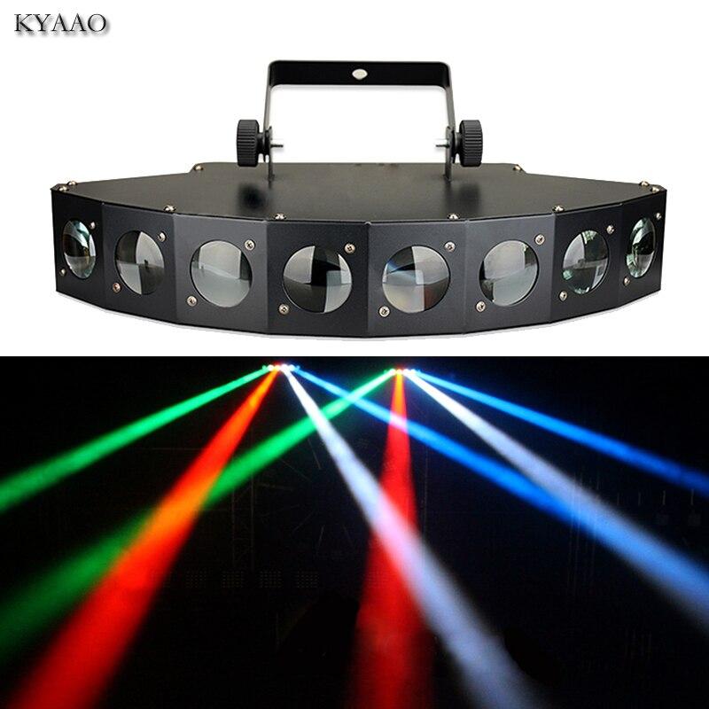 Estágio feixe de luz de discoteca 8*10 W LEVOU RGBW DMX 512 luzes do partido clube som luz equipamento de dj profissional scanner de código de barra de luzes