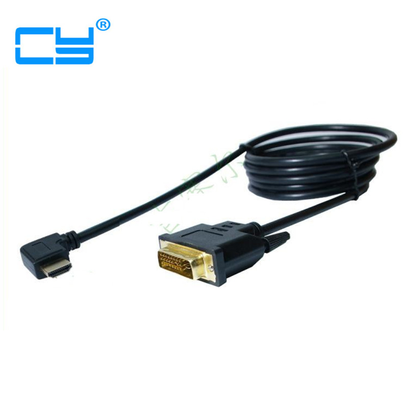 1.5M 90 Degree Left  Right Angled HDMI Male to DVI Male HDTV Cable for Monitor Projector PS3/PS4 TV  Monitor techlink wiresnx2 right angled hdmi a plug to hdmi a plug 3m 710493