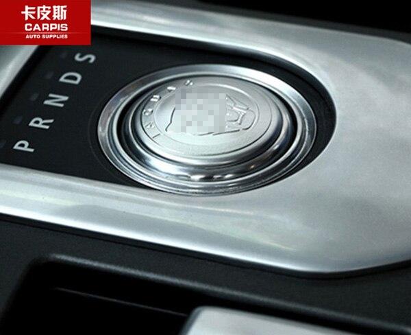 Chrome Tampa Do Botão do Deslocamento de Engrenagem Do Carro Decoração Interior Do Carro Adesivo molduras Para Jaguar XF XJ XJL XE F-PACE Acessórios Do Carro Styling