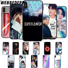 WEBBEDEPP Super Junior Korean Kpop Soft Case for iPhone 5 5S 6 6S 7 8 Plus X XS MAX XR недорго, оригинальная цена