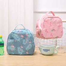 Joyathome New Design Flamingo Insulation Lunch Box Bag Student Lunch Bag Outdoor Picnic Storage Bag Lunch Container Lunch Bag lunch express