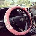 Bonito dos desenhos animados cobertura de volante de carro carro duable silicone lavável-cobre lzh