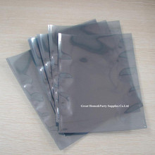 10x16cm 100pcs Flat Translucent Anti-Static Mylar Open Top Bags W/Tear Notches For Electronic Components/Mobile Computer Parts
