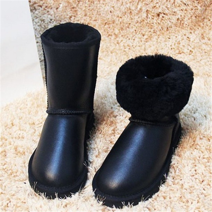 Top Quality Women Shoes Waterproof Nature Fur Wool Real Sheepskin Leather Snow Classic Snow Boots Genuine Sheepskin Women Boots