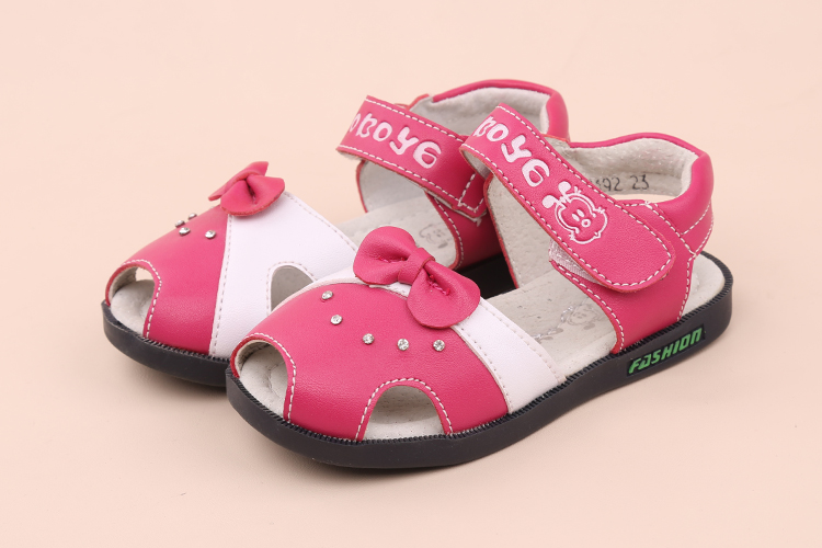 Free Shipping 1 pair Children Sandals Genuine Leather girl Orthopedic shoes, Kids/childs ...