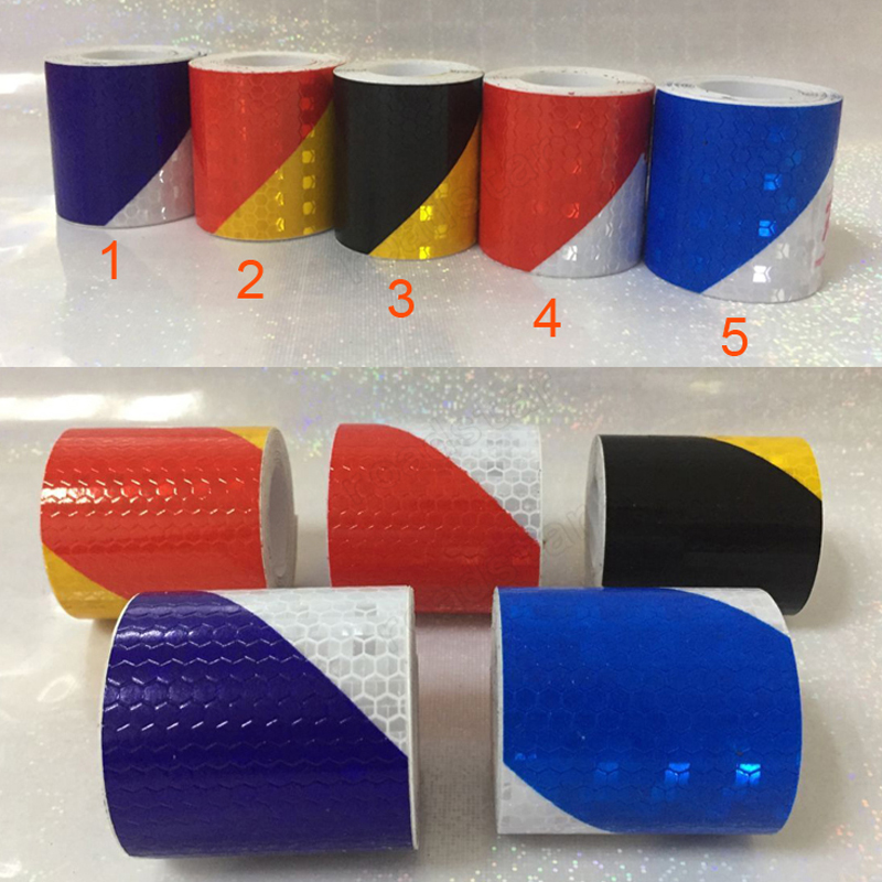 5cm X 5m Safety Mark Car Styling Reflective Tape Sticker Self Adhesive Warning Tape Automobile Motorcycle Reflective Film