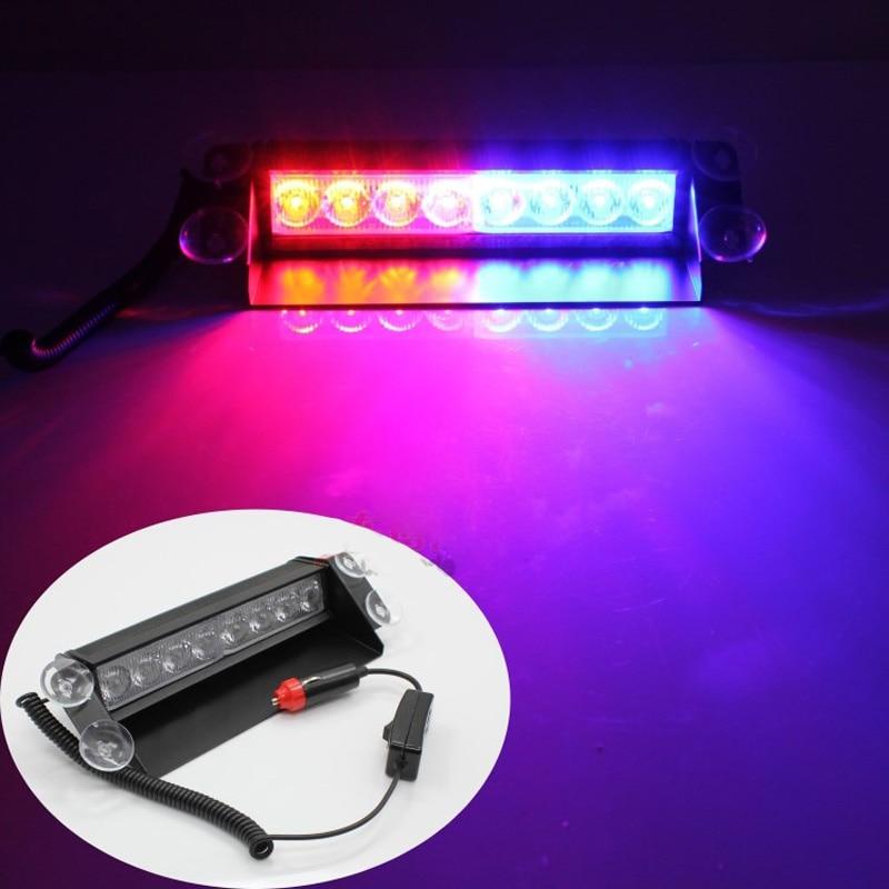 12v Led Windshield Warning Light Car Flash Light Police Emergency Flasher Strobe Caution Lamp Offroad Driving Led Beacon Light