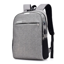 2019 Anti-theft Laptop Backpack Password Lock Men Women School Bag USB Charging Business Backpack With Earphone Hole Travel Bag 2018 new casual usb male men backpack anti theft password lock design school backpack for teens college student multi pocket bag