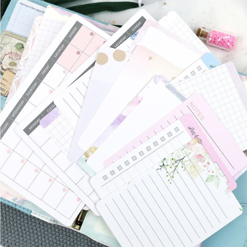2019 Yiwi Original 16 Sheets Project Life Diy To Do List Grid Line