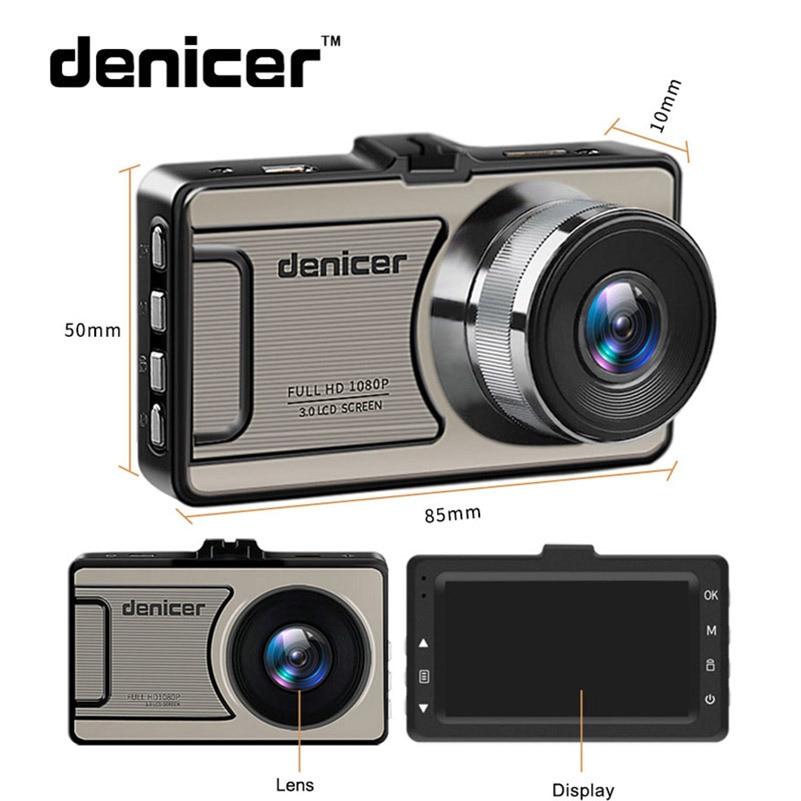 """3 """"черточки автомобиля Камера автомобиля Cam Full HD 1080 P DVR 170 градусов широкий угол в автомобиля видео Регистраторы dashboard Камера с Ночное видение"""