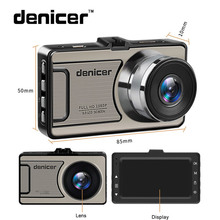 3 «черточки автомобиля Камера автомобиля Cam Full HD 1080 P DVR 170 градусов широкий угол в автомобиля видео Регистраторы dashboard Камера с Ночное видение
