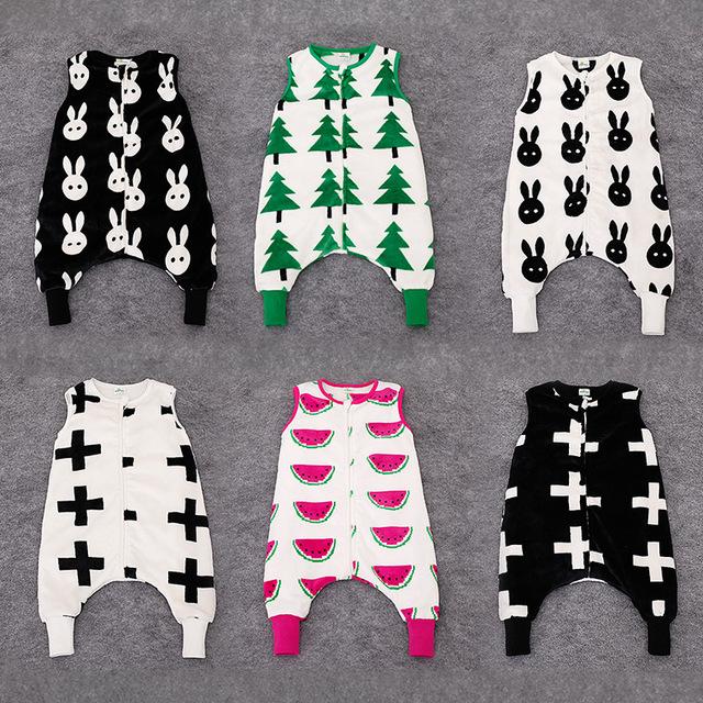 Para 0-2 años ropa para bebés Bobo choses 2015 invierno cálido bebé navidad ropa infantil ropa de Bebé cuerpo