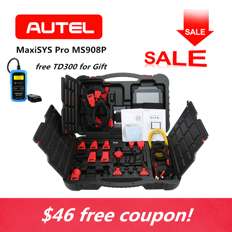 AUTEL MaxiSYS Pro MS908P Automotive ECU Programming OBD2 Scanner J2534 OBDII Diagnostic Tool Car Code Reader as TD300 for Gift