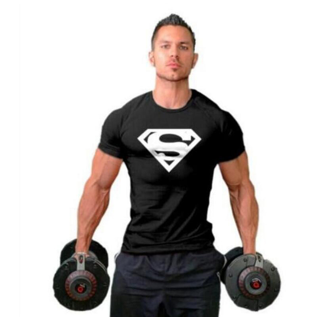 93f9addaf1c Workout Clothes Cotton Superman Gyms T Shirts Plus size XS-2XL Mens T-shirt  Muscle Gyms Fitness Clothing Bodybuilding Tops