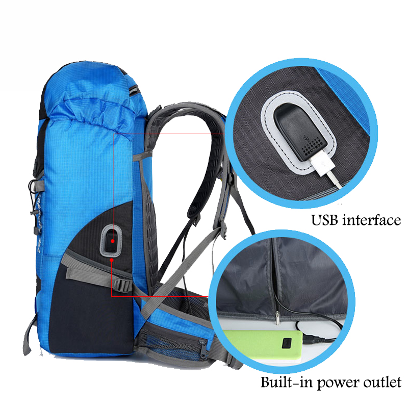 Hot Outdoor Bag Camping Hiking 45L Hiking Backpack Outdoor Backpacks Nylon Sport Bag Multi-purpose Climbing Bags 2