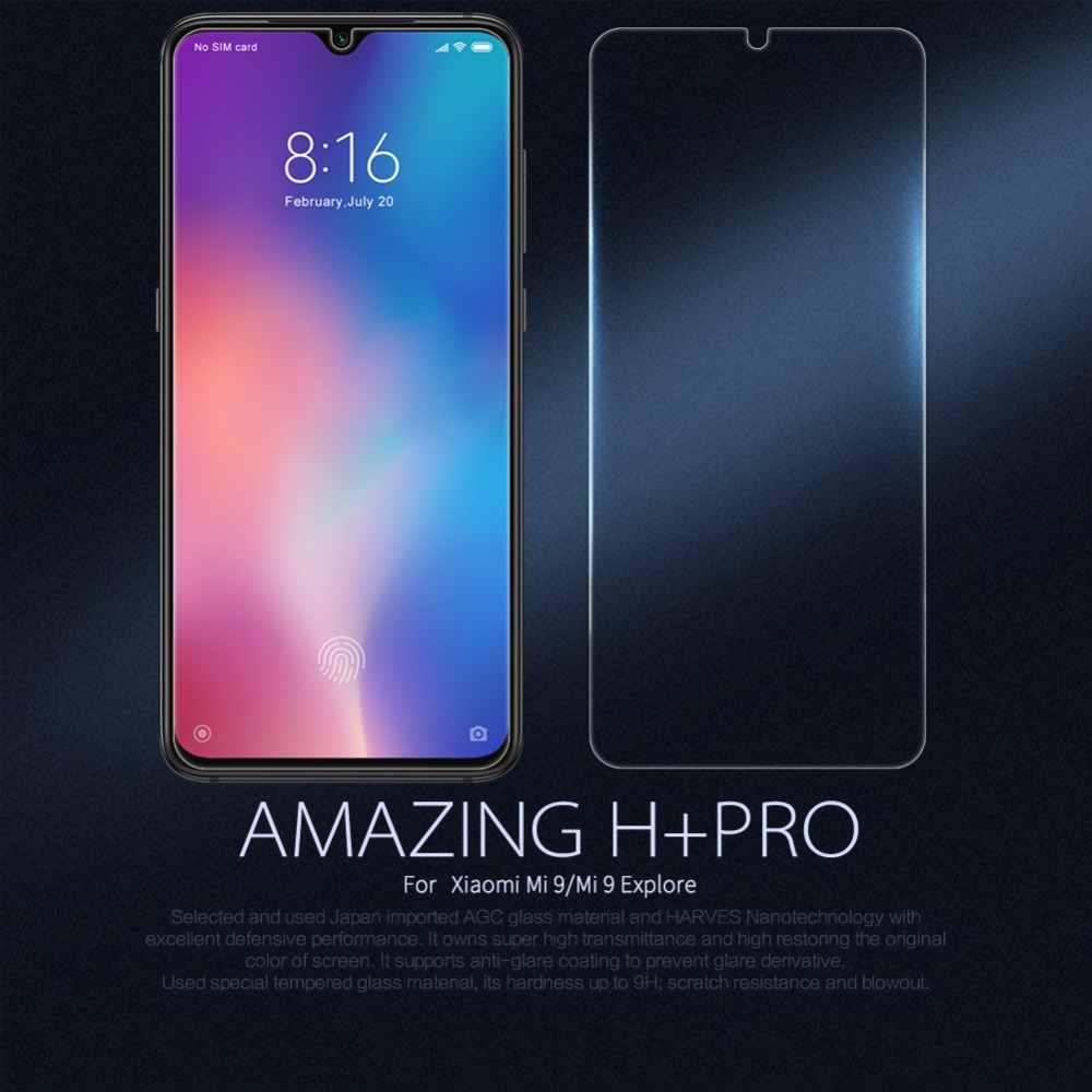 10pcs lot NILLKIN Amazing H PRO Anti Explosion Tempered Glass Screen Protector Film For Xiaomi mi9