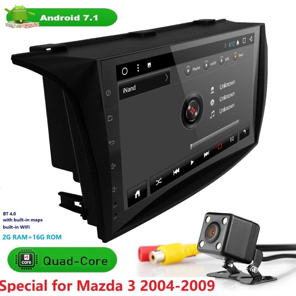 QuadCore Android7.1 Fit MAZDA 3 MAZDA3 2004 2005 2006 2007 2008 2009 CarMonitor lecteur de voiture Navigation GPS Radio dvb-t dab + SWC DVR
