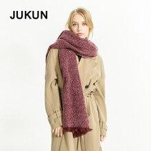 European winter new tassel scarf ladies monochrome warm thick cashmere high quality women fashion 2018