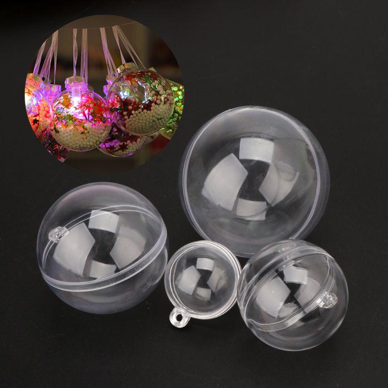 Clear Plastic Acrylic Bath Bomb Mold Shells Molding Ball Ornaments DIY Crafts