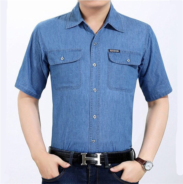 AliExpress Selling Top quality Men's Short sleeve shirt 2018 New products Casual fashion England Men Shirt