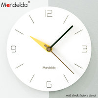 Mandelda Home Decoration Watch Wall Clock Circular Wooden Creative Wall Clock by AA Battery Power