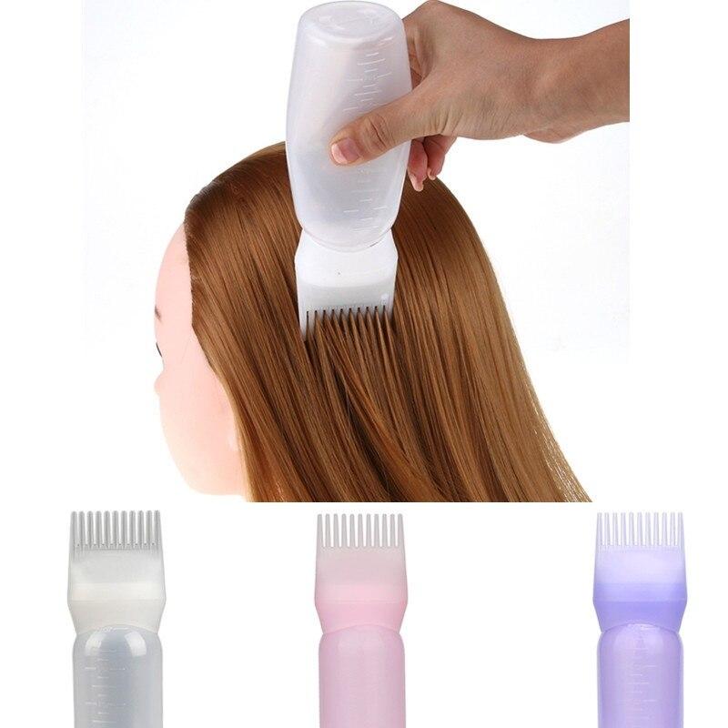 Hair Care 1pc bottle Hot Hair Dye Bottle Applicator Brush Dispensing Salon Hair Coloring Dyeing 2018 sep25