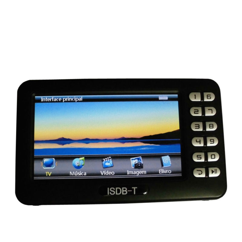 Digital ISDB-T Mini Handheld TV Receiver With 4.3 Inch LCD Screen ISDB T/FM Muisc USB Video Player TV Box For South America
