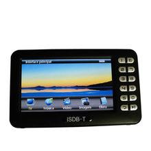 Digital ISDB T Mini Handheld TV Receiver With 4 3 inch LCD Screen ISDB T FM