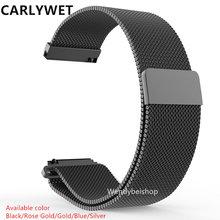 16 18 20 22 23mm Silver Black Gold Rose Gold  Blue Mesh Milanese Loop Steel Bracelet Wrist Watch Band Strap Magnetic Closure