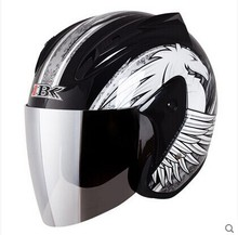 half face Motorcycle helmet men  winter keep warm anti fog motorcycle safety helmet Capacete moto  Casco motocicleta