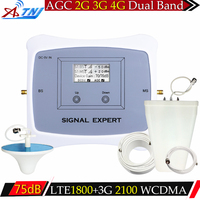 ATNJ LCD display 2G 3G 4G 1800/2100mhz Mobile Signal Booster DCS WCDMA 2G 3G 4G LTE Dual Band Cellular Signal Repeater Amplifier