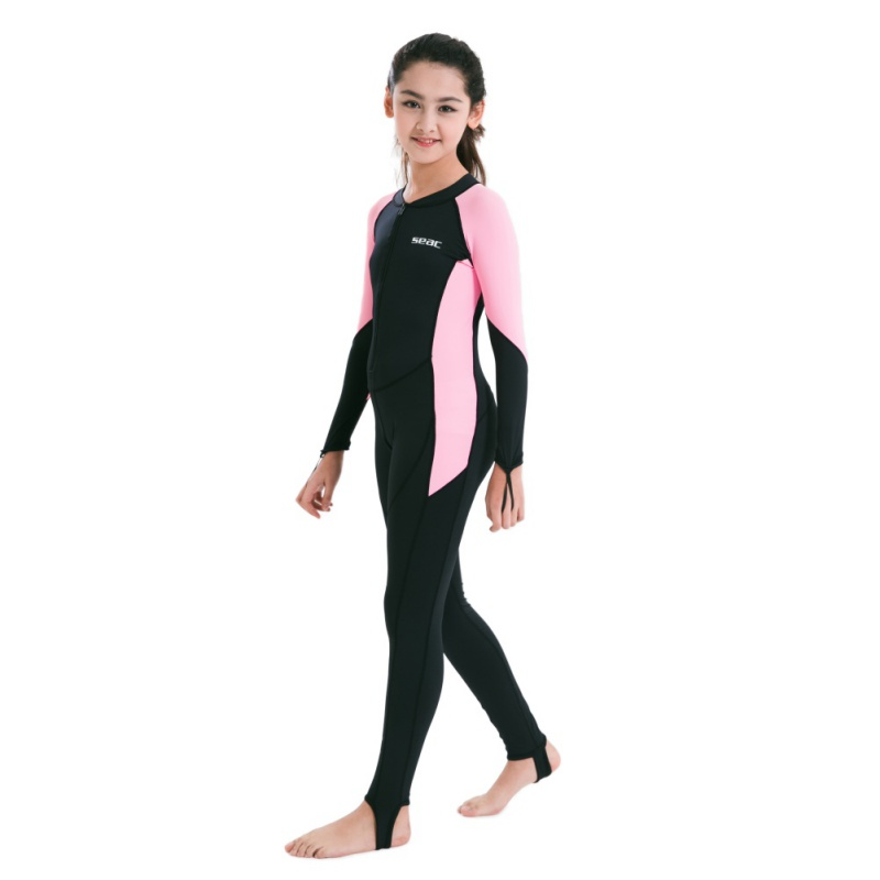 Surfing Rash Outdoor Kids Lycra Diving Wetsuits Children One Pieces Colors Patckwork Long Sleeve Swimwear Diving Suits