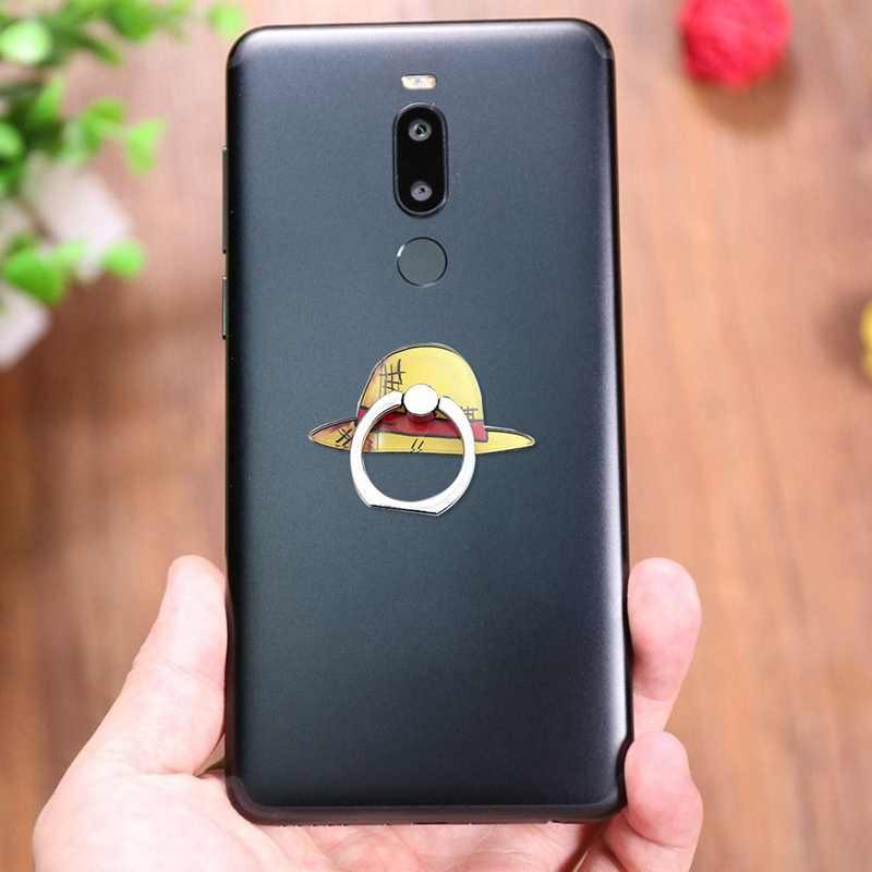 Popular anillo de dedo de una pieza de Metal teléfono móvil de dibujos animados soporte de mano para iPhone 7 Telef Tablet soporte Portable