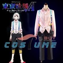 Tokyo Ghoul CCG Juzo Suzuya Uniform Pink Long Sleeve Shirt Black Pant For Men Halloween Carnival Anime Cosplay Costume